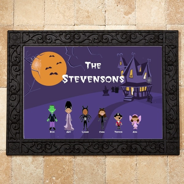 Personalized Halloween Mat - Fun Outdoor Halloween Decoration