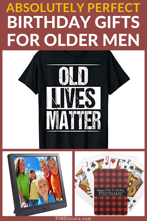 Birthday Gifts for Older Men - Looking for amazing birthday gifts for a senior man? Check out these great present ideas - he'll be glad you did! #FINDinista.com #birthday #birthdaygifts #gift #gifts #present #giftideas