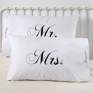 Mr and Mrs Pillowcases - Great Wedding or Engagement Presents