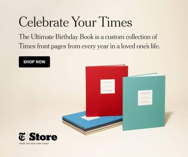 Birthday Gifts for Older Men - Surprise your favorite senior with The Ultimate Birthday Book from The New York Times.  Perfect birthday present for the man who has everything!