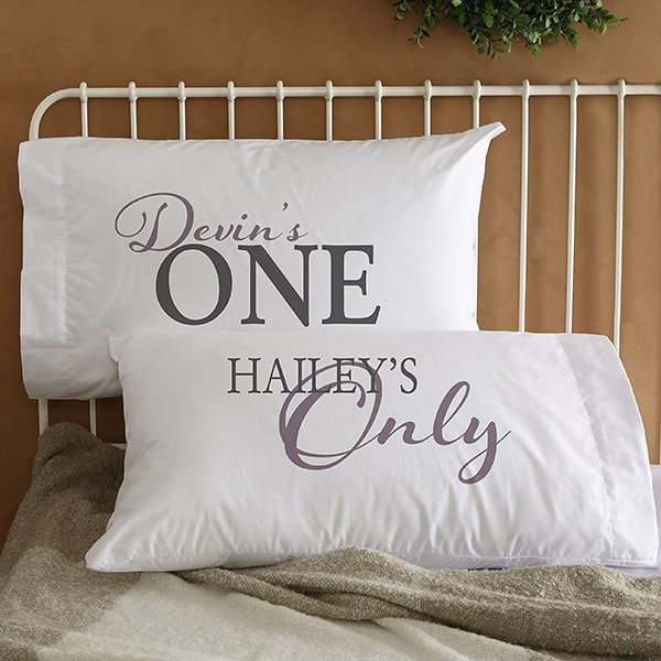 One and Only Matching Pillowcases for Couples