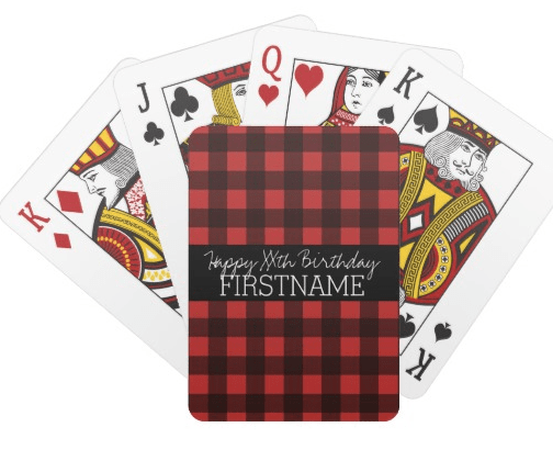 Personalized birthday gift ideas - Looking for a fun but inexpensive birthday gift idea?  A personalized deck of playing cards fits the bill perfectly!