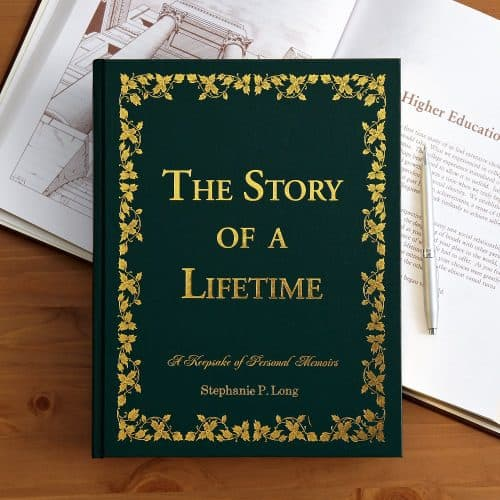 Unique Gifts for Elderly Women - She'll enjoy preserving all her memories in this beautiful personalized memory book.  Striking book features almost 500 questions that will help her write her own story of her life.  A gift that she will enjoy - and the family will treasure!