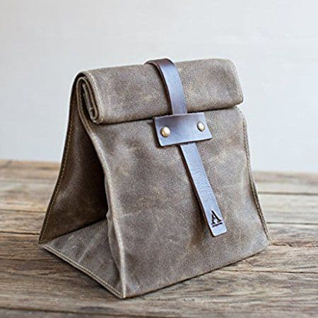 Stylish lunch tote for men - Looking for a unique Christmas gift for the stylish man?  Elevate his brown bag lunch to an elegant style!