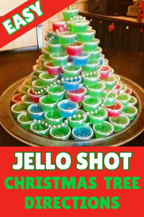 Jello Shot Christmas Tree Directions - A jello shot Christmas tree is sure to be the highlight of any Christmas party. Click to find easy instructions on how to make a colorful jello shot Christmas tree.  #cocktailrecipes #FINDInista.com