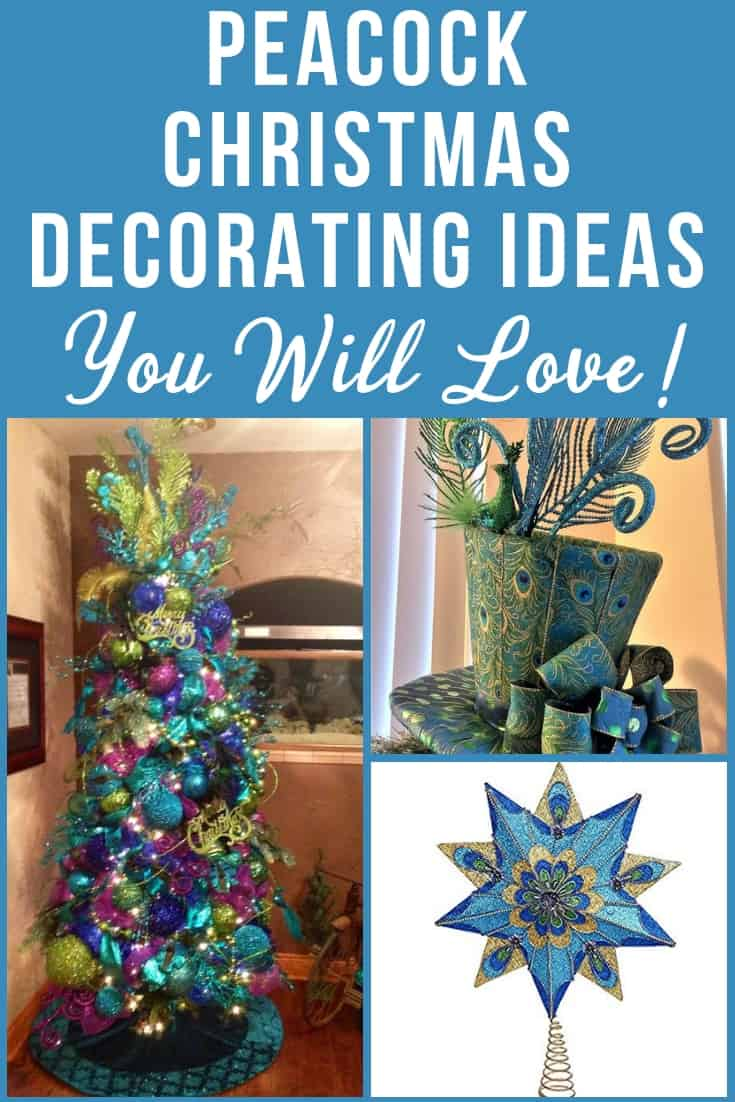 Peacock Christmas Decorating Ideas - Deck your house out in elegant peacock-themed Christmas trees