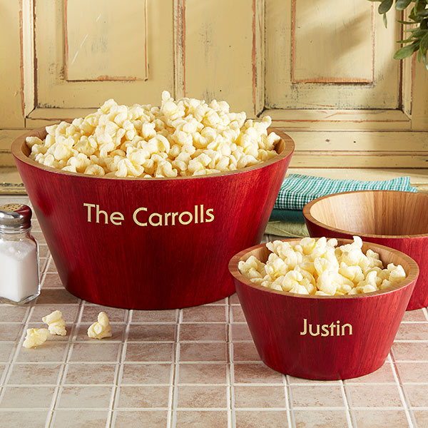 Personalized Popcorn Bowls
