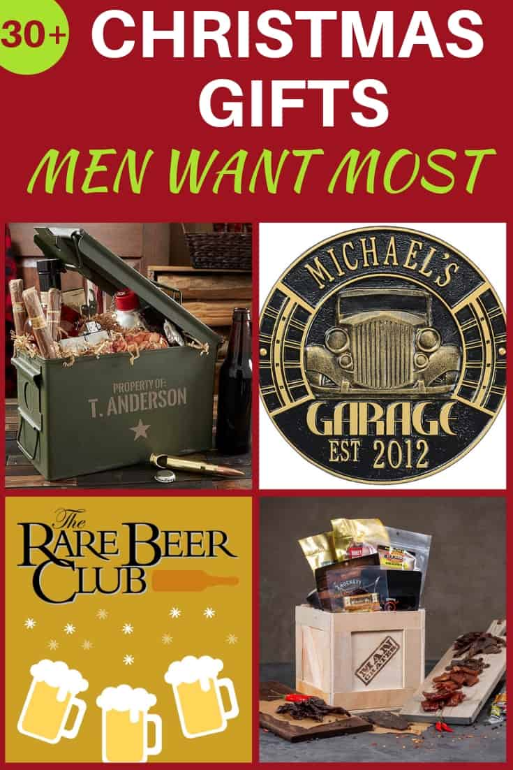 Christmas Gifts Men Actually Want - Don't give a tie this Christmas!  Click to see 30+ Christmas gifts for men that they actually want!  Surprise your husband, boyfriend, dad or other guy with the perfect Christmas gift this year!  #christmasgifts #FINDinista.com