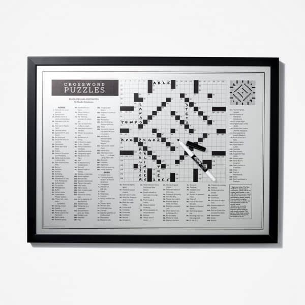 Wondering what to get a crossword-puzzle lover for Christmas? Impress him or her with this elegant framed aluminum copy of The New York Time's very first crossword puzzle! #christmasgifts #gifts