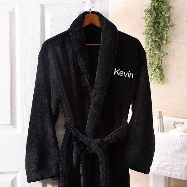 Personalized robe - Pamper your husband this Christmas with a super-soft luxurious personalized robe.  Perfect for relaxing in after a hard day at work or lounging around in on the weekends.