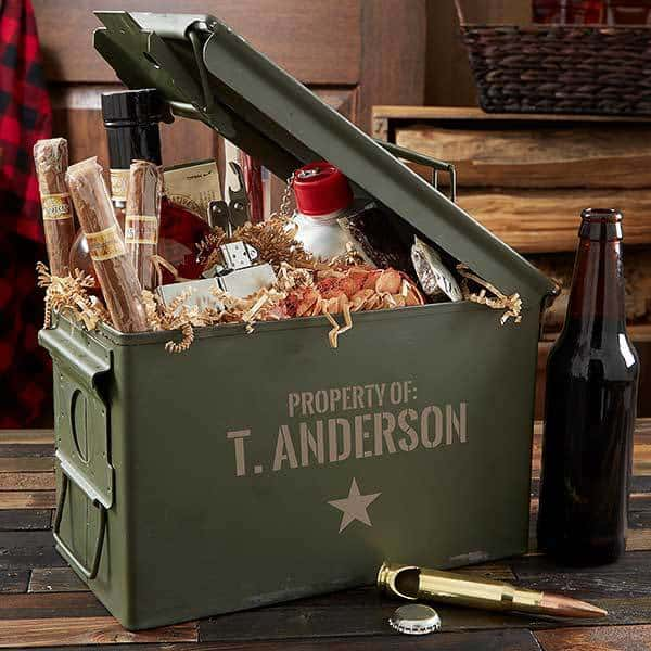 Personalized ammo box is a fabulous Christmas gift for husband, dad or son!
