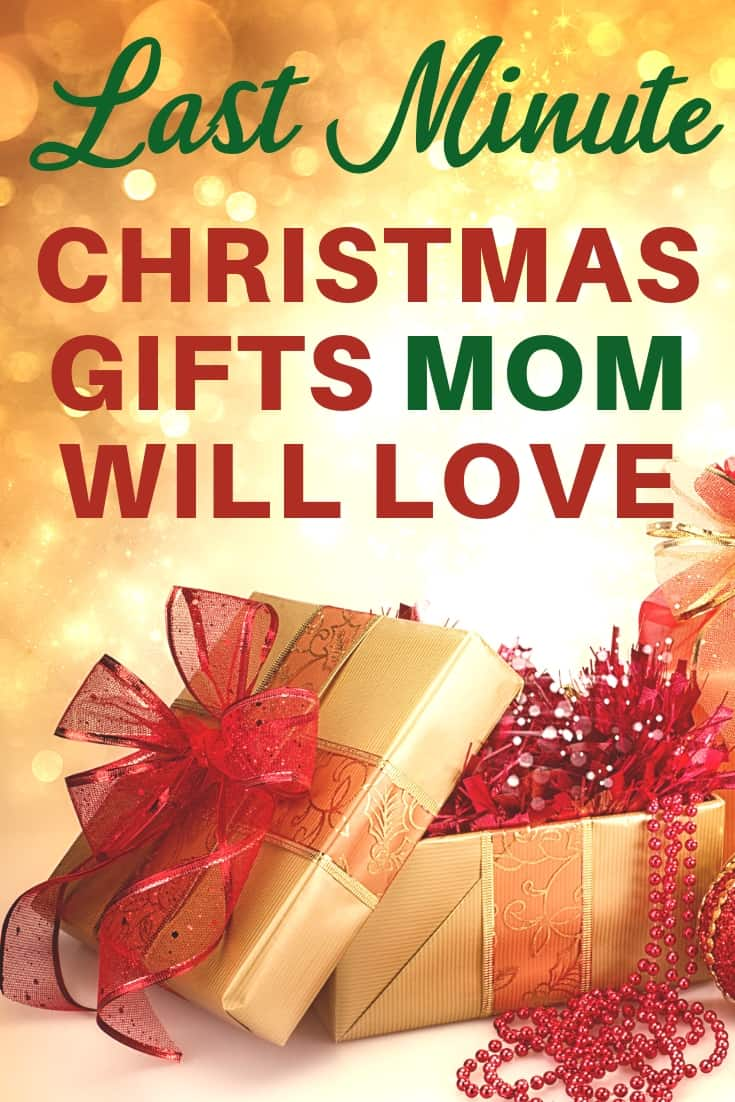 Last Minute Christmas gifts for Mom - Need an amazing Christmas gift for Mom that can ship quickly? Click to see 20+ last minute Christmas gift ideas that she'll love! #giftsformom #FINDinista.com