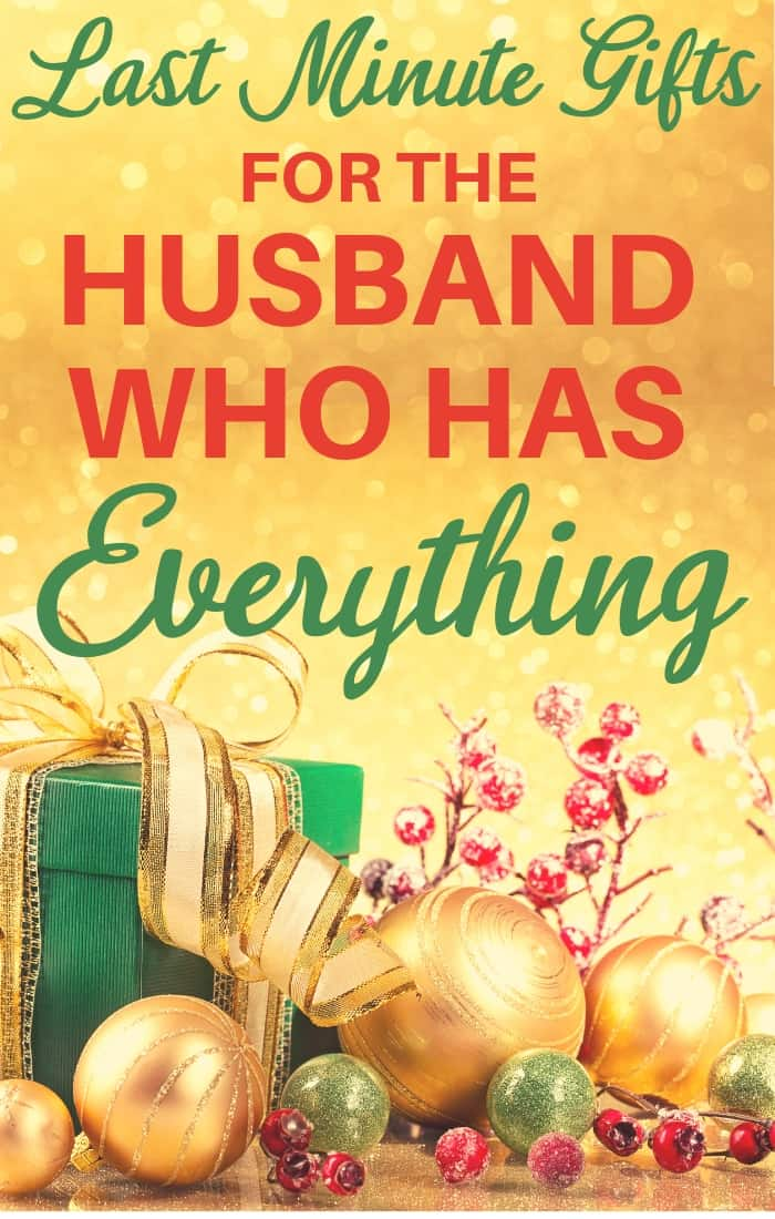 Last Minute Christmas Gifts for the Husband Who Has Everything - Christmas is almost here! Do you still need fabulous Christmas gift ideas for your husband? Click to see wonderful quick-shipping Christmas gifts that he'll love - that can still arrive in time for Christmas!