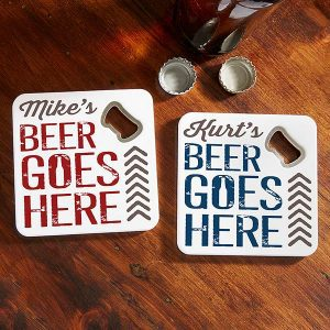Personalized Beer Bottle Opener Coasters