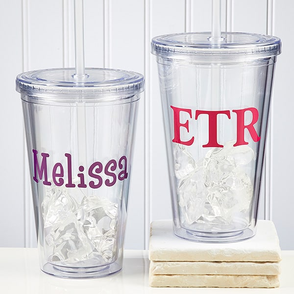 Gifts for Her - Personalized insulated tumbler is the perfect gift for anyone on the go!  Keep your favorite woman hydrated in style while she's out and about.  A fabulous gift for kids and adults!