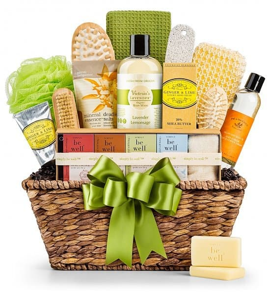 Pamper a special lady with this beautiful organic spa gift basket....everything she needs to create a spa experience at home!