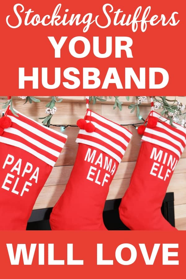 Stocking Stuffers for Your Husband - Looking for fun and unique Christmas stocking stuffer ideas for your husband? Find great (and affordable) stocking stuffers for the man who has everything! #stockingstuffer #giftsforhusband