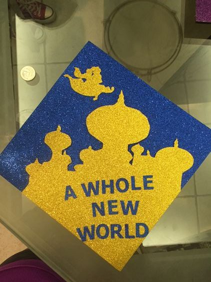 A Whole New World Graduation Cap - 30 Magical Disney Graduation Caps