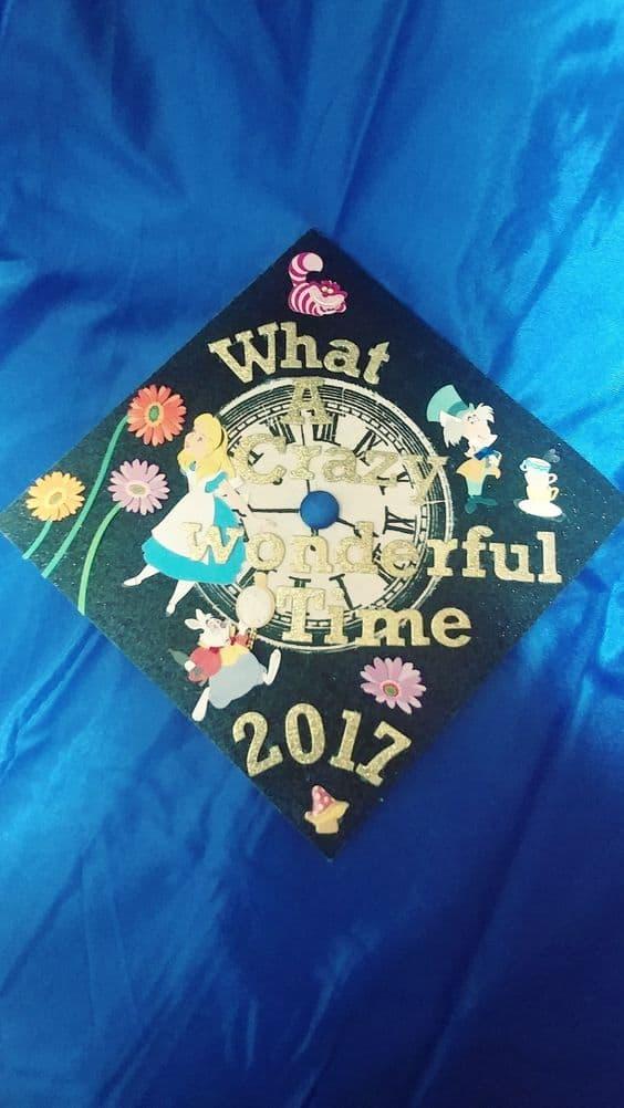 Alice in Wonderland Graduation Cap - 30 Magical Disney Grad Cap Ideas