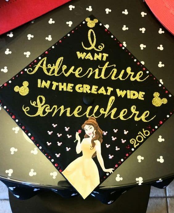 Beauty and the Beast Graduation Cap - 30 Magical Disney Graduation Caps