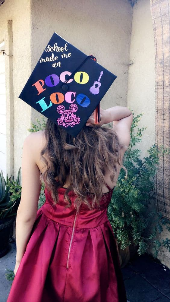 Coco Inspired Grad Cap - 30 Magical Disney Graduation Caps