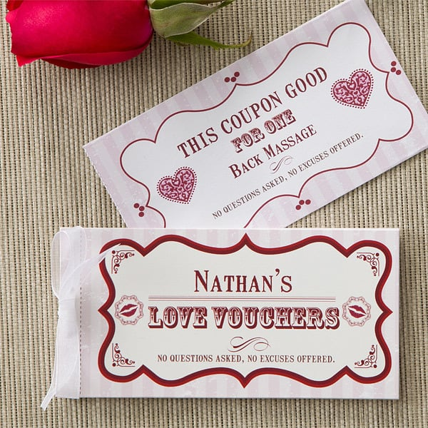Valentine's Day Ideas for Men - Create your own personalized vouchers of love!  #FINDinista.com #valentinesgiftsforhim