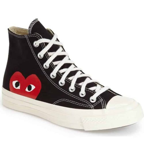 Chuck Taylor Peekaboo Heart Converse Sneakers - a fun fashion statement that also makes a clever Valentine's Day gift!  #FINDinista.com #Valentinesday