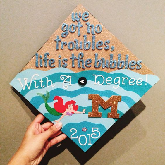 Little Mermaid Graduation Cap - 30 Magical Disney Graduation Caps