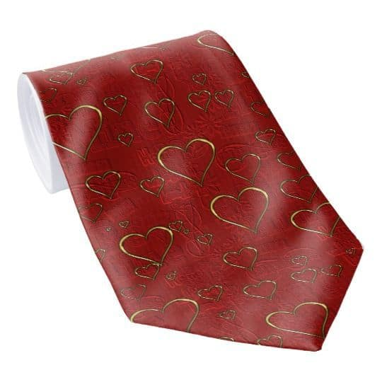 Valentine's Day tie - Deck your husband or boyfriend out in style this Valentines' Day with a heart-themed necktie.  Click to see a great selection of fun Valentine's Day ties and other gifts for men.  #FINDInista.com #valentinesday