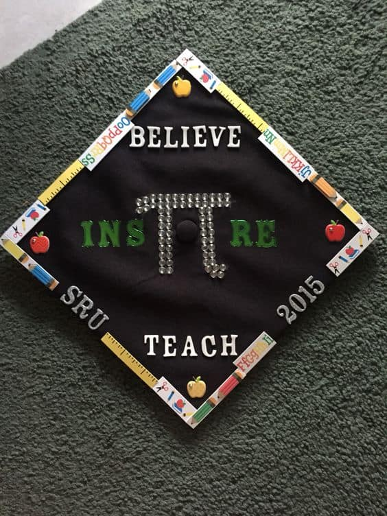 Believe. Inspire. Teach - 20 Grad Caps for Teachers