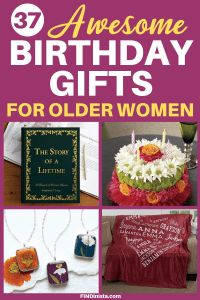 Birthday Gifts for Older Women - Looking for unique birthday gifts for the elderly woman who has everything? Delight her this year with one of these fabulous birthday presents! Prices start at under $20, so you can find a gift she'll love even if you're on a tight budget. #giftsforher #FINDinista.com