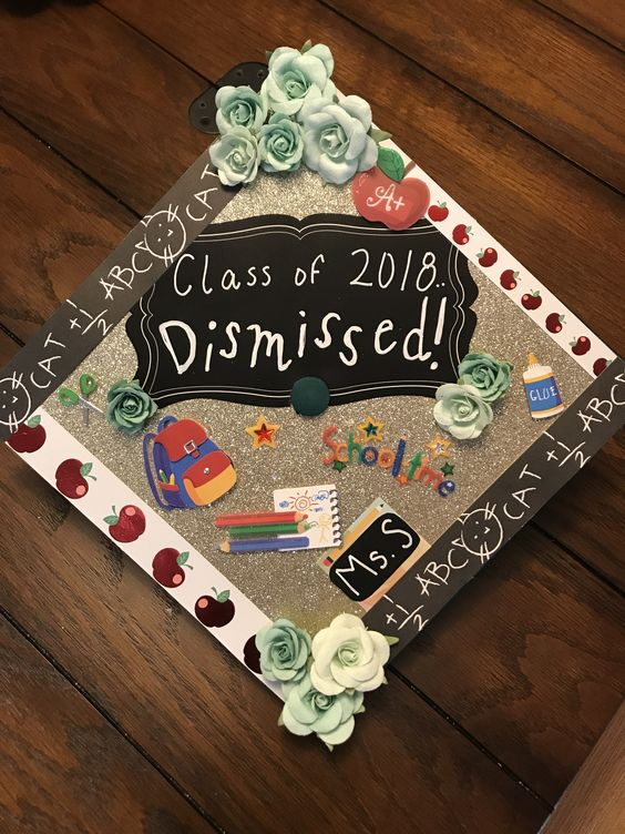 Class Dismissed Graduation Cap - 20 Grad Caps for Teachers