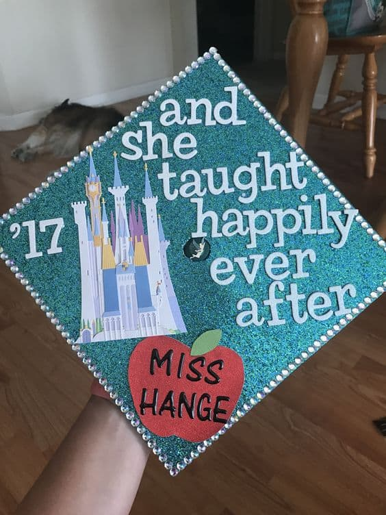 Disney Inspired Graduation Cap for Teachers - 20 Grad Caps for Future Educators