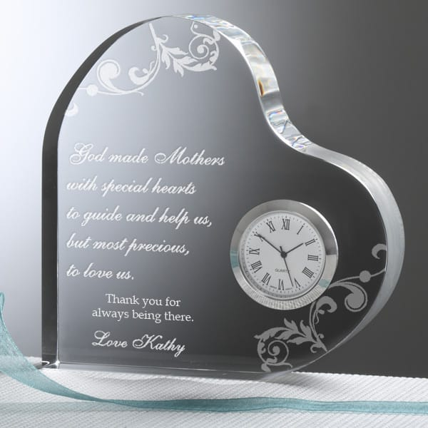 Looking for a meaningful gift for the older Mom on her birthday?  Delight her with this sentimental clock that features your own loving message!  #birthdaygifts #FINDinista.com
