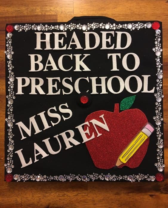 Headed Back to School Grad Cap - 20 Graduation Caps for Teachers