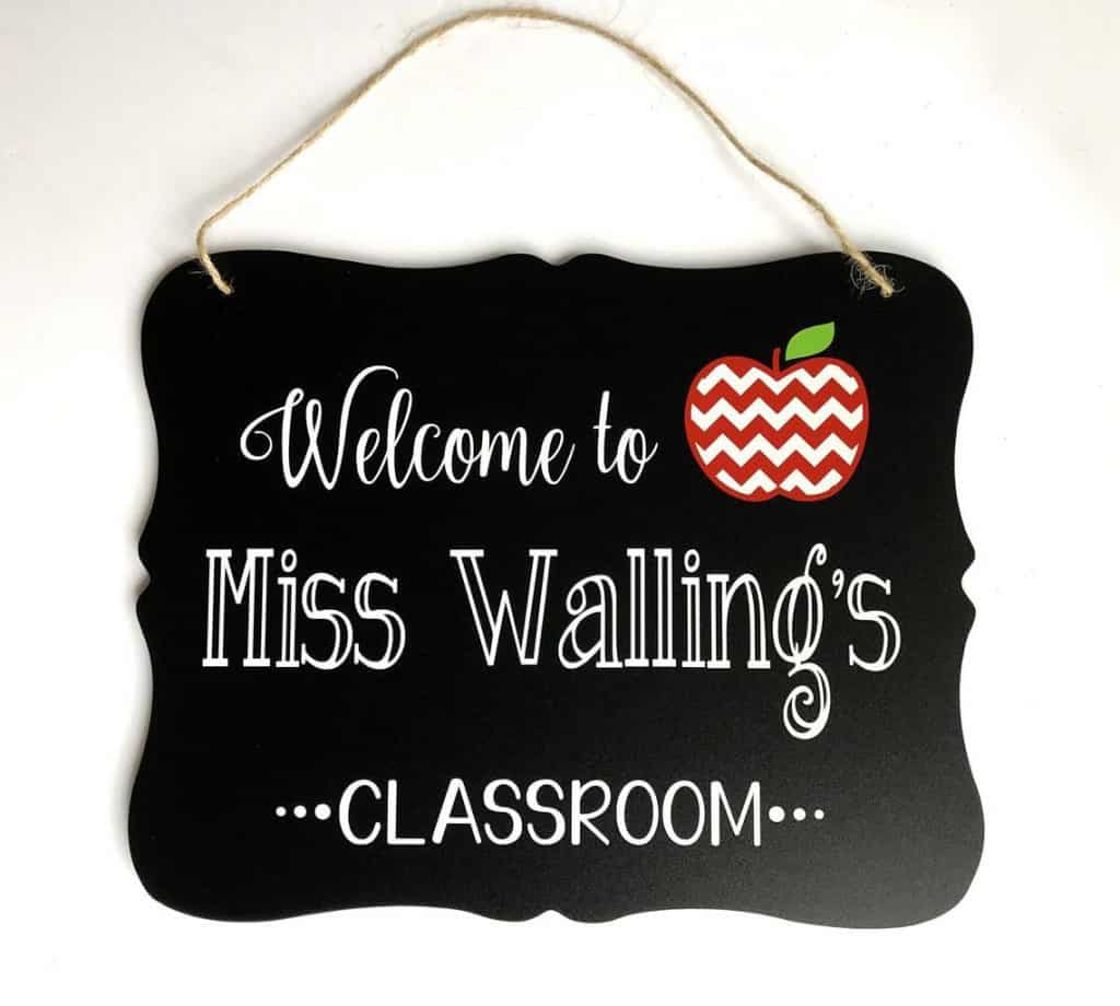 Personalized Classroom Sign - Graduation Gifts for Teachers