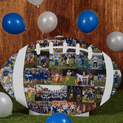 Oversized Football Photo Cutout Display