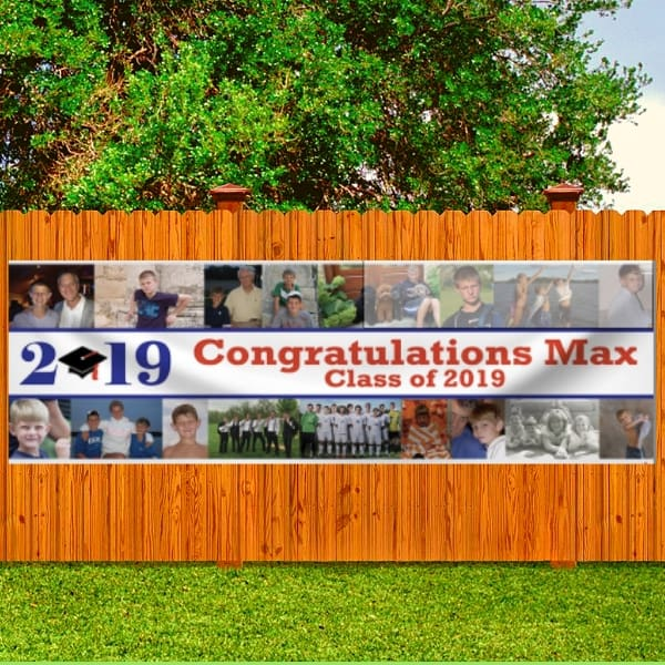 2019 Graduation Banner with Multiple Photos