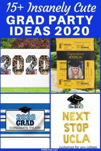 Cute Grad Party Decorating Ideas 2020 - Looking for awesome (but easy) graduation party decorations? Click to see the best decorating ideas for 2020 graduation parties!