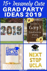 Decoration Ideas for High School Graduation Party - Looking for cute grad party ideas? Check out these adorable (and easy) decorations that are perfect for your son's or daughter's grad party! #FINDinista #graduationpartyideas #graduationpartydecorations