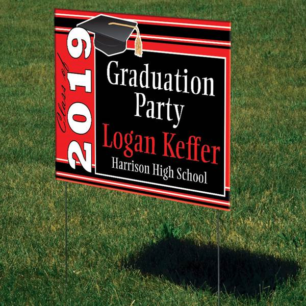 2019 Personalized Grad Party Sign