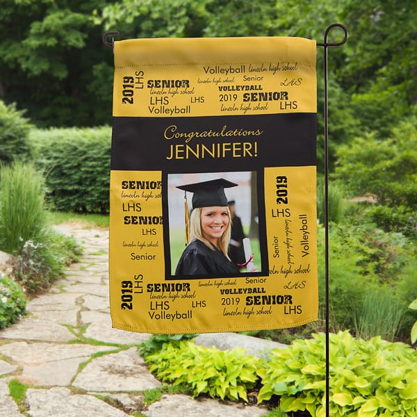 Personalized Graduation Garden Flag with Photo
