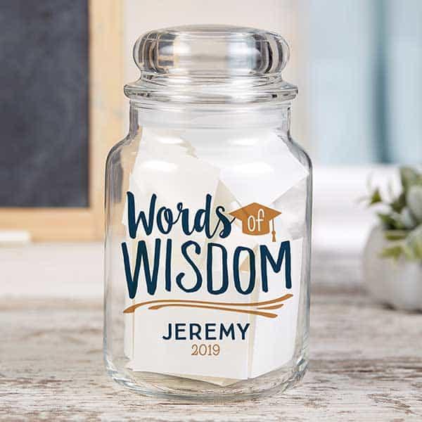 Personalized Words of Wisdom Jar