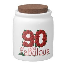 90 & Fabulous Candy Jar for Women