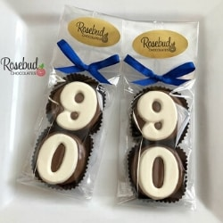 90th Birthday Chocolate Covered Oreos