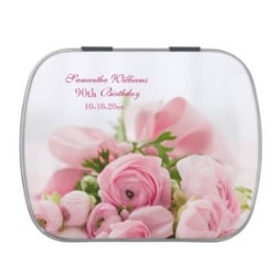 Personalized 90th Birthday Candy Tin