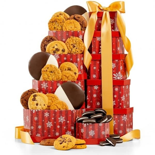 Christmas Gift Baskets for 90 Year Old Woman - Thrill your favorite senior with a tantalizing gift basket this Christmas! Click to see more Christmas gift baskets for elderly women, as well as 50+ awesome gift ideas for 90 year olds. #FINDinista #Christmasgifts #giftsforher