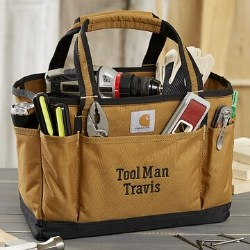 Carhartt Personalized Water Repellant Utility Tool Tote with 17 Pockets & 7 Loops