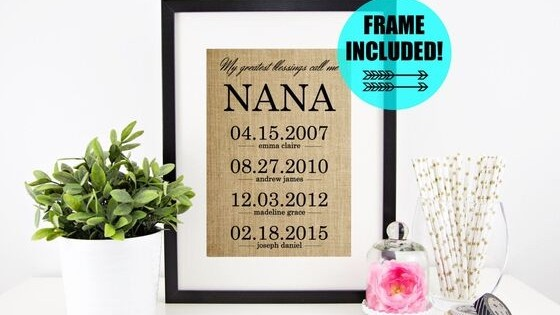 Etsy Nana Gifts - Looking for a unique Christmas, birthday or Mother's Day gift for Nana? Etsy always has a great selection of custom-made gifts that are perfect for any occasion. Click to see the top gift ideas for Nana. #FINDinista #nanagifts #giftsforher