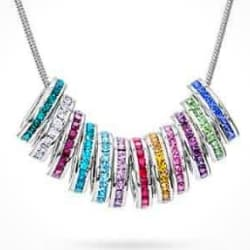 Silver or Gold Birthstone Charm Necklace - Add Additional Charms Anytime